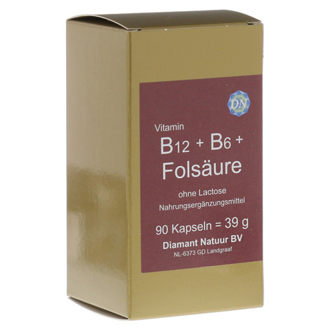 B12+B6+Folsäure ohne Lactose Kapseln 90 Stück
