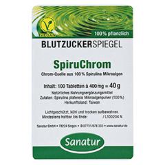 SPIRUCHROM Chrom Spirulina Tabletten 100 Stück - Vorderseite