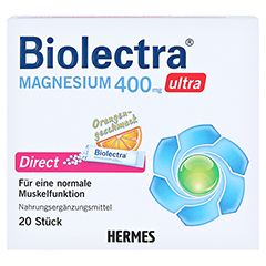 BIOLECTRA Magnesium 400 mg ultra Direct Orange 20 Stück - Vorderseite