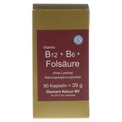 B12+B6+Folsäure ohne Lactose Kapseln 90 Stück - Vorderseite