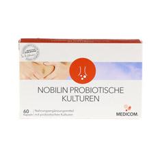 NOBILIN Probiotische Kulturen Kapseln 60 Stück - Vorderseite