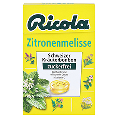 RICOLA o.Z. Box Zitronenmelisse Bonbons 50 Gramm - Vorderseite