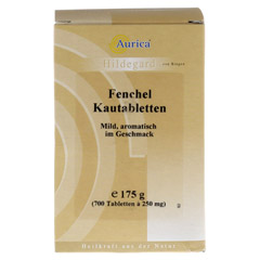 FENCHELKAUTABLETTEN Aurica 700 Stück - Vorderseite