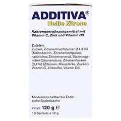 ADDITIVA heiße Zitrone Pulver 120 Gramm - Linke Seite