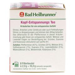 BAD HEILBRUNNER Kopf-Entspannungstee Filterbeutel 8x2.0 Gramm - Linke Seite