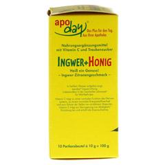 Apoday Ingwer + Honig mit Zitronengeschmack 10x10 Gramm - Linke Seite