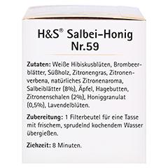 H&S Wohlfühltee Salbei Honig mit Zitrone Fbtl. 20x2.0 Gramm - Linke Seite