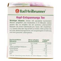 BAD HEILBRUNNER Kopf-Entspannungstee Filterbeutel 8x2.0 Gramm - Rechte Seite