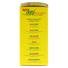 Apoday Ingwer + Honig mit Zitronengeschmack 10x10 Gramm - Rechte Seite
