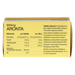 ARONTA 600 mg Tabletten 60 Stück - Oberseite