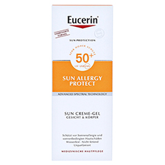 Eucerin Sun Allergy Protect Creme-Gel LSF 50 + gratis Eucerin After Sun 50 ml 150 Milliliter - Vorderseite