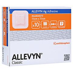 ALLEVYN Ag Adhesive 7,5x7,5 cm Wundverband 10 Stück