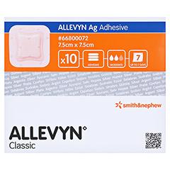 ALLEVYN Ag Adhesive 7,5x7,5 cm Wundverband 10 Stück - Vorderseite