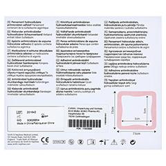 ALLEVYN Ag Adhesive 7,5x7,5 cm Wundverband 10 Stück - Rückseite
