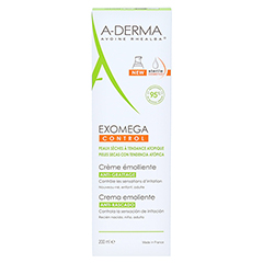 A-DREMA EXOMEGA CONTROL Geschmeidigmachende Creme 200 Milliliter - Rückseite