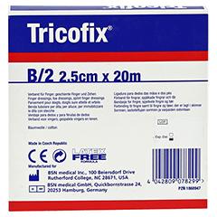 TRICOFIX Schlauchverband Gr.B 2,5 cmx20 m 1 Stück - Rückseite
