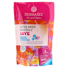 DERMASEL Totes Meer Badesalz+Love limited edition 1 Packung