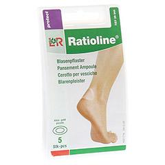 RATIOLINE protect Blasenpflaster 3,8x6 cm klein 5 Stück