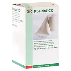 ROSIDAL CC kohäsive Kompressionsbinde 10 cmx6 m 1 Stück