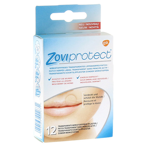 ZOVIPROTECT Lippenherpes-Patch transparent 12 Stück