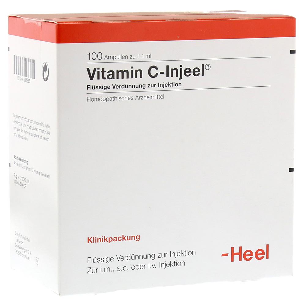 vitamin c injeel ampullen 100 st ck online bestellen medpex versandapotheke. Black Bedroom Furniture Sets. Home Design Ideas