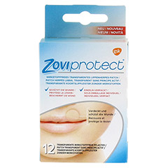 ZOVIPROTECT Lippenherpes-Patch transparent 12 Stück - Vorderseite
