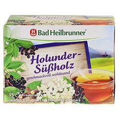 BAD HEILBRUNNER Tee Holunder Süßholz Filterbeutel 15 Stück - Vorderseite