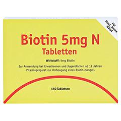 BIOTIN 5 mg N Tabletten 150 Stück - Vorderseite