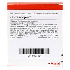 COFFEA INJEEL Ampullen 10 Stück N1 - Vorderseite