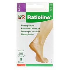 RATIOLINE protect Blasenpflaster 3,8x6 cm klein 5 Stück - Vorderseite