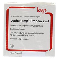 LOPHAKOMP Procain 2 ml Injektionslösung 20x2 Milliliter N2 - Vorderseite