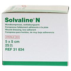 SOLVALINE N Kompressen 5x5 cm steril 25 Stück - Linke Seite