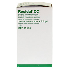 ROSIDAL CC kohäsive Kompressionsbinde 10 cmx6 m 1 Stück - Linke Seite