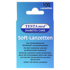 TESTAMED Soft-Lanzetten 100 Stück - Rückseite