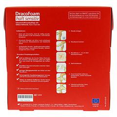 DRACOFOAM Haft sensitiv Schaumst.Wund.12,5x12,5 cm 10 Stück - Rückseite
