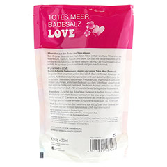 DERMASEL Totes Meer Badesalz+Love limited edition 1 Packung - Rückseite