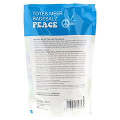 DERMASEL Totes Meer Badesalz+Peace limited edition 1 Packung - Rückseite