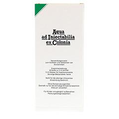 AQUA AD iniectabilia ex Colonia Ampullen 10x5 Milliliter N2 - Rückseite