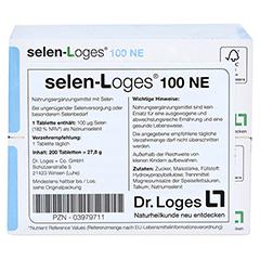 SELEN LOGES 100 NE Tabletten 200 Stück - Rückseite