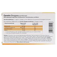 CAROTIN DRAGEES 60 Stück - Rückseite