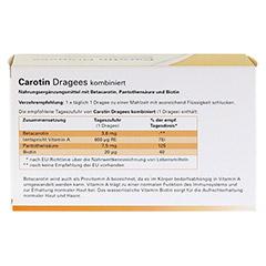 CAROTIN DRAGEES kombiniert 240 Stück - Rückseite