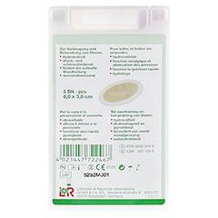 RATIOLINE protect Blasenpflaster 3,8x6 cm klein 5 Stück - Rückseite