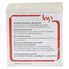 LOPHAKOMP Procain 2 ml Injektionslösung 20x2 Milliliter N2 - Rückseite