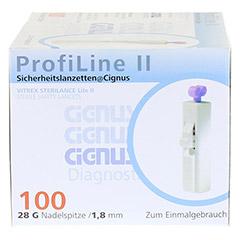 PROFILINE II Sicherheitslanzetten Cignus 100 Stück - Oberseite