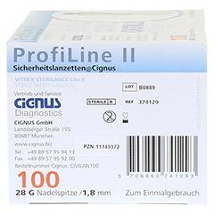 PROFILINE II Sicherheitslanzetten Cignus 100 Stück - Unterseite