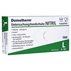 DOMOTHERM Unt.Handschuhe Nitril unste.puderfrei L 100 Stück