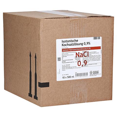ISOTONISCHE Kochsalzlösung 0,9% Plastik Inf.-Lsg. 10x500 Milliliter N2