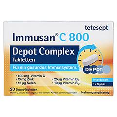 Tetesept Immusan C 800 Depot Complex 20 Stück - Vorderseite