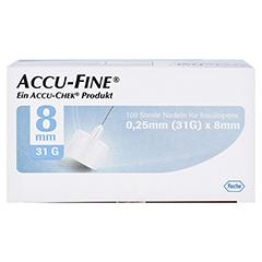 ACCU FINE sterile Nadeln f.Insulinpens 8 mm 31 G 100 Stück - Oberseite