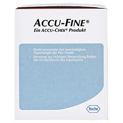 ACCU FINE sterile Nadeln f.Insulinpens 8 mm 31 G 100 Stück - Rechte Seite